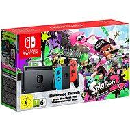 Nintendo Switch - Neon + Splatoon 2 - Herná konzola