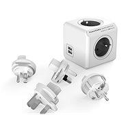 PowerCube Rewirable USB + Travel Plugs sivá