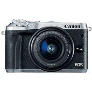 Canon EOS M6 strieborný + EF-M 15-45mm - Digitálny fotoaparát