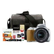Canon EOS 200D strieborný + 18–55mm IS STM + Canon Starter Kit - Digitálna zrkadlovka