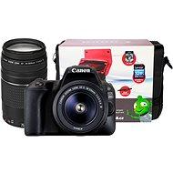 Canon EOS 200D čierna + 18-55mm DC III + 75-300mm DC III + Canon Starter Kit - Digitálna zrkadlovka