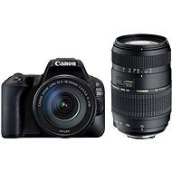Canon EOS 200D čierny + 18–55 mm DC III + TAMRON 70–300 mm - Digitálna zrkadlovka