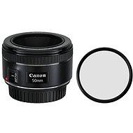 Canon EF 50mm f/1,8 STM + UV filtr Polaroid - Objektív