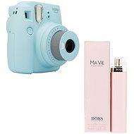 Fujifilm Instax Mini 9 svetlo modrý + HUGO BOSS Ma Vie Pour Femme EdP 75 ml
