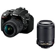 Nikon D5300 čierny + 18-55 mm AF-P VR + 55-200 mm AF-S VR II - Digitálna zrkadlovka
