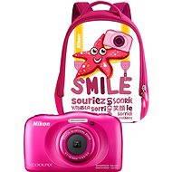 Nikon COOLPIX W100 ružový backpack kit - Digitálny fotoaparát
