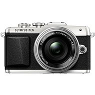 Olympus PEN E-PL7 strieborný + objektív 14-42 mm Pancake Zoom - Digitálny fotoaparát