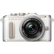 Olympus PEN E-PL8 biely + Pancake objektív ED 14-42EZ strieborný - Digitálny fotoaparát