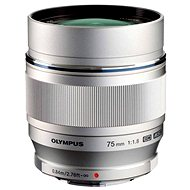 M.ZUIKO DIGITAL ED 75mm silver - Objektív