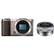Sony Alpha A5100 hnedý + objektív 16-50mm - Digitálny fotoaparát