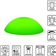 Colour changing Flat Pebble (stepping stone) - Dekoratívne osvetlenie