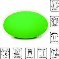 Colour changing Large Pebble (New Cushion) - Dekoratívne osvetlenie