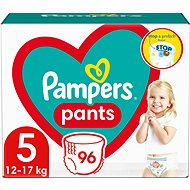 PAMPERS Pants veľ 5 Junior (96 ks) - mesačná zásoba - Detské plienkové nohavičky