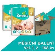 Pampers Premium Care MB Newborn + Mini (168 ks) - mesačná zásoba - Detské plienky