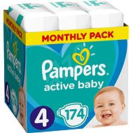 Pampers Active Baby-Dry vel. 4 Maxi (174 ks) - Detské plienky