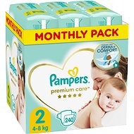 PAMPERS Premium Care veľ. 2 Mini (240 ks) - mesačné balenie - Detské plienky