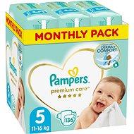 PAMPERS Premium Care veľ. 5 Junior (136 ks) - mesačné balenie - Detské plienky