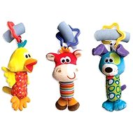 Playgro Cestovné závesné hračky 3 ks - Hračka na kočík
