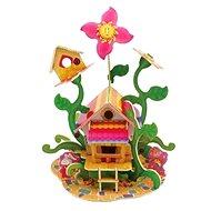 Drevené 3D Puzzle - Kvetinový domček - Puzzle