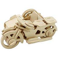 Drevené 3D Puzzle – Motorka trojkolka - Puzzle