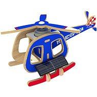 Drevené 3D Puzzle - Solárne vrtuľník farebný - Puzzle