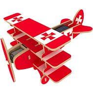 Drevené 3D Puzzle - Solárne lietadlo Trojplošník farebné - Puzzle