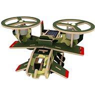 Drevené 3D Puzzle - Vojenské solárne lietadlo Avatar farebné - Puzzle