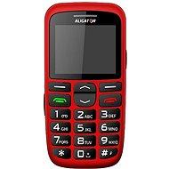 Aligator A680 Senior Red + Stolná nabíjačka - Mobilný telefón