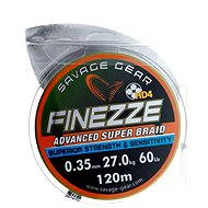 Savage Gear FINEZZA HD4 Braid 120m 0.35mm 60lbs 27kg Grey - Šnúra