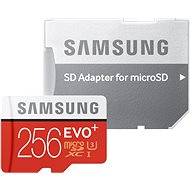Samsung micro SDXC 256GB EVO Plus Class 10 UHS-I + SD adaptér - Pamäťová karta