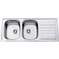 Sinks OKIO 1200 DUO V 0,7 mm matný - Drez