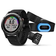 Garmin Fenix 5 Grey, Black band, perform Bundle - Inteligentné hodinky