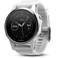 Garmin Fenix 5S Silver, White band - Inteligentné hodinky