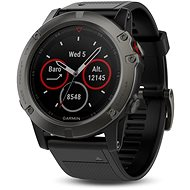 Garmin Fenix 5X Sapphire, Grey, Black band - Inteligentné hodinky