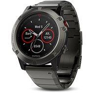 Garmin Fenix 5X Sapphire, Grey, Metal band - Inteligentné hodinky