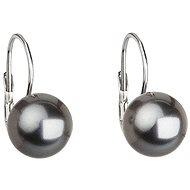 Swarovski Elements Perla šedá 31143.3 (925/1000, 2,7 g) - Náušnice