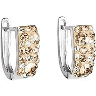 EVOLUTION GROUP 31123.5 gold náušnice dekorované krystaly Swarovski