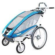 Thule Chariot CX1 Blue + bike set - Vozík
