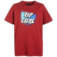 Rip Curl SLANT LOGO SS TEE Pompeian Red Ma 16 - Tričko