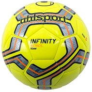 Uhlsport Infinity Team - fluo yellow / silver / navy / fluo orange - vel. 4 - Futbalová lopta