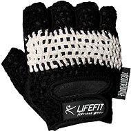 Lifefit Fit čierne / biele veľ. XL - Rukavice