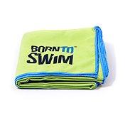 Born To Swim z mikrovlákna zelený - Uterák