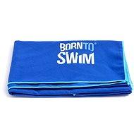 Born To Swim z mikrovlákna modrý - Uterák