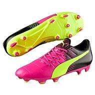 Puma Evo Power 3.3 FG pink glo-Safet, veľ. 8,5 - Kopačky