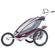 Thule Chariot CX1 Burgundy Disc + bike set - Vozík