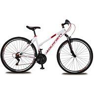 "Olpran Player 28 Lady – M/18"" white/red/black - Crossový bicykel"