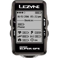 Lezyne Super GPS HRSC Loaded Black - GPS cyklocomputer