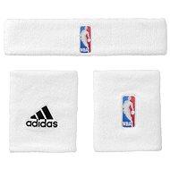 Adidas NBA Wristband Prus Headband White Youth - Súprava