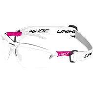 Unihoc X-RAY senior white / cerise - Florbalové okuliare