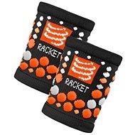 COMPRESSPORT wristband black/orange - Športový doplnok